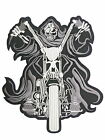 """Reaper Rider MC Biker Motorcycle Big Jumbo Embroidered Back Patch 10.2"""""""