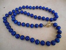 VINTAGE HATTIE CARNEGIE BLUE ART GLASS SOMMERSO BEADS KNOTTED NECKLACE RARE!