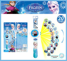 Cute Frozen Figures Projection Wrist Watch Kids Children Baby Educational Toy
