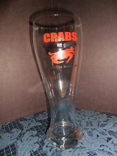 "TALL BEER GLASS FROM "" CRABS WE GOT'EM""  PENSACOLA FL, EUC"
