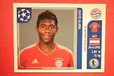 PANINI CHAMPIONS LEAGUE 2011/12 N 15 ALABA BAYER WITH BACK BACK MINT!!