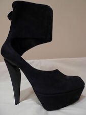 MIU JIL SANDER SEXY NAVY SUEDE PLATFORM SHOES ITALY SIZES AVAILABLE 37/7 OR 38/8