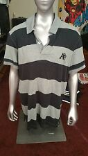 Mens Aeropostale Button Down Polo A87 Sz Large L Striped Short Sleeve