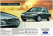 Publicité Advertising 1992 (2 pages) Ford Escort Orion et nouveau clipper