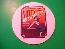 Beer Brewery Coaster ~*~ BJ's Brewhouse Brand Nutty Brewnette American Brown Ale