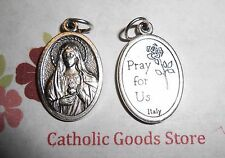 Immaculate Heart of Mary - Oxidized Die Cast Italian 1 inch Medal