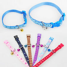 Pet Dog Puppy Collar Neck Buckle Ajustable Fashion Bell Cartoon Design S
