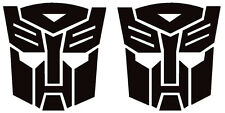 autobot transformers x2 stickers 60mm high in any colour landrover 4x4 car bike
