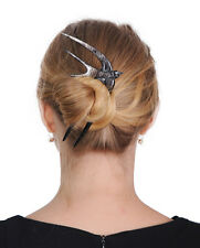 BLACK BUFFALO HORN SWALLOW BIRD HAIR FORK HAIRFORK HAIR PIN ACCESSORIES GIFT