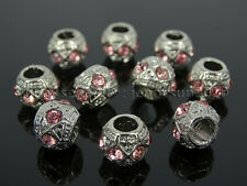 Czech Crystal Big Hole Spacer Charm Beads Fit European Bracelet Necklace Jewerly