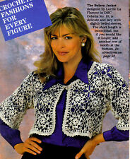 DELICATE Lacy Bolero Jacket/Apparel/ Crochet Pattern Instructions