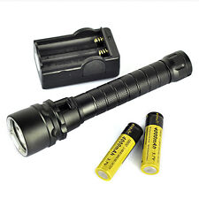 9000Lm 3x XML T6 LED Underwater 100m Scuba Diving Flashlight Torch 18650+Charger