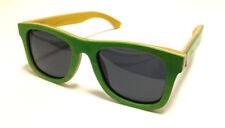 WOODEN Wayfarer SUNGLASSES Skateboard Green Bamboo & Leather Case by eSSyGees
