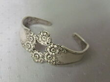 Womens Florentine Cuff Bracelet, Sterling Silver, Spoon, Adjustable, 1 1/4""