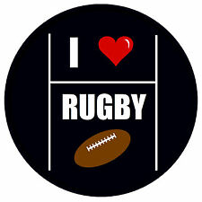 I LOVE RUGBY- FUN NOVELTY FRIDGE MAGNET -  BRAND NEW - GIFT - XMAS