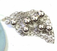 Rare CLIO BLUE Paris 43.3g Argent 925 Sterling Silver CHAIN Balls Beads LONG 51""