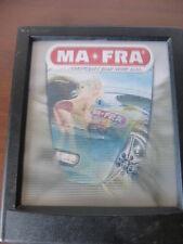 vecchia e rara pubblicità MA-FRA MAFRA prodotti per l'auto con donna sexy double