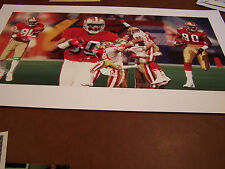 "49ER's JERRY RICE SIGNED AUTOGRAPH "" LASTING MEMORIES"" 20X24 LITHO  COA"