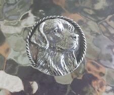 PET PUREBRED 1 GOLDEN RETRIEVER DOG PEWTER PIN ALL NEW.