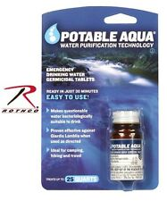 Rothco 7740 Portable Aqua  Emergency Water Purification Tablets US MADE