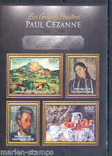CENTRAL AFRICA 2012  THE GREATEST PAINTERS PAUL CEZANNE  SHEET NH