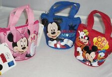 3 pcs Disney Mickey Minnie Mouse Mini Hand Bag Purse Girls Birthday Favor Filler