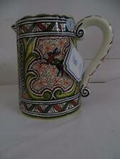 Real Ceramica Portugal Neo Classic Hand Painted Pitcher New COA