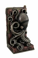"8"" Steampunk Octopus Single Bookend Home Decor Statue Animal Figure Figurine"