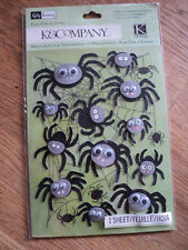 K & CO KELLY PANACCI HALLOWEEN SPIDER RUB-ONS WITH EMBELLISHMENTS BNIP