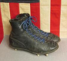 Vintage 1940s Spot Bilt High Top Black Leather Football Shoes Cleats Size 8.5