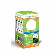 IngeniLED LED A19 40W equivalent LED standard light bulb 470 Lumens, soft white