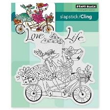 PENNY BLACK RUBBER STAMPS SLAPSTICK CLING LOVE LIFE NEW STAMP SET