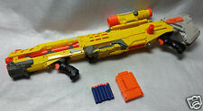 NERF N strike Elite -YELLOW  LONGSHOT CS-6 -RIFLE collectable - dart gun  sniper