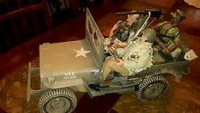 "GI JOE - HASBRO 1/6 WWII 1941 U.S. WILLYS JEEP ""WEATHERED VERSION"" w/ 3 GI JOES!"