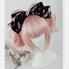 Fashion Long Curly Wavy Hair Full Wig Pink Mix Gold Costume Lolita Anime Party