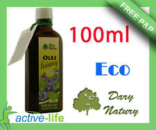 Linseed oil cold pressed 100ml flax Ecological fatty acids Dary Natury Discount!