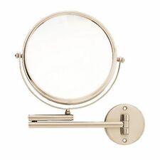 Danielle 20cm Diameter Adjustable Wall Mounted Satin Nickel Mirror 8X Magnified