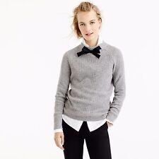 NWT J.crew Gayle Tie-Neck Sweater XL Heather Graphite