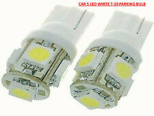 Car 5 LED Parking Replacement White T-10 Adapter Bulb :- 2 PIECES