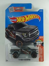 Hot Wheels Int Carded 2016 HW Hot Trucks '17 Ford F-150 Raptor #10 Grey