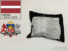 Latvia Army Ration Pack. Military meals ready to eat (MRE)