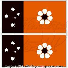 NORTHERN TERRITORY Flag Darwin NT Australia, Australian Stickers Decals 110mm x2
