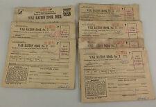 World War II WWII Ration Stamp 7 Books Booklet No 3&4 Validated Numbered Vintage