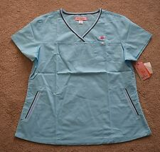 NWT Koi by Kathy Peterson Ashley Style Women's Scrub Top Size Large, Ice Blue