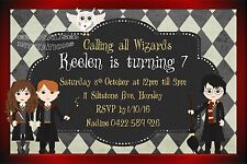 Boys Girls Harry Potter Wizard Witches Birthday Invitation Party Invite