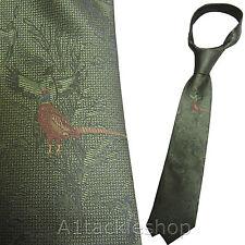 Bisley Pheasant Green Game Shooting Tie