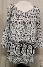 LUCKY BRAND Bohemian Peasant Hippie Gypsy Oversized Festival Indian Top sz  M