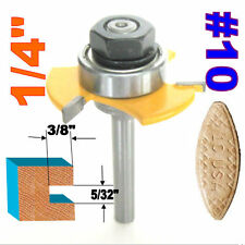 "1 pc 1/4"" SH Biscuit #10 Slotting 5/32""x3/8"" Joint Assembly Router Bit sct-888"