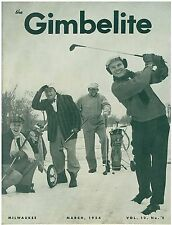 Vintage March 1954   Gimbels Broadcaster Employees Magazine Golf Cover