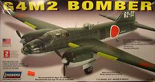 LINDBERG 1:72 SCALE WWII JAPANESE G4M2 TWIN ENGINE BOMBER PLASTIC MODEL KIT